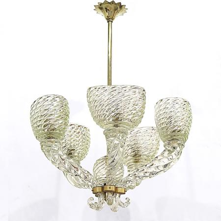 Five-Arm Chandelier by Barovier