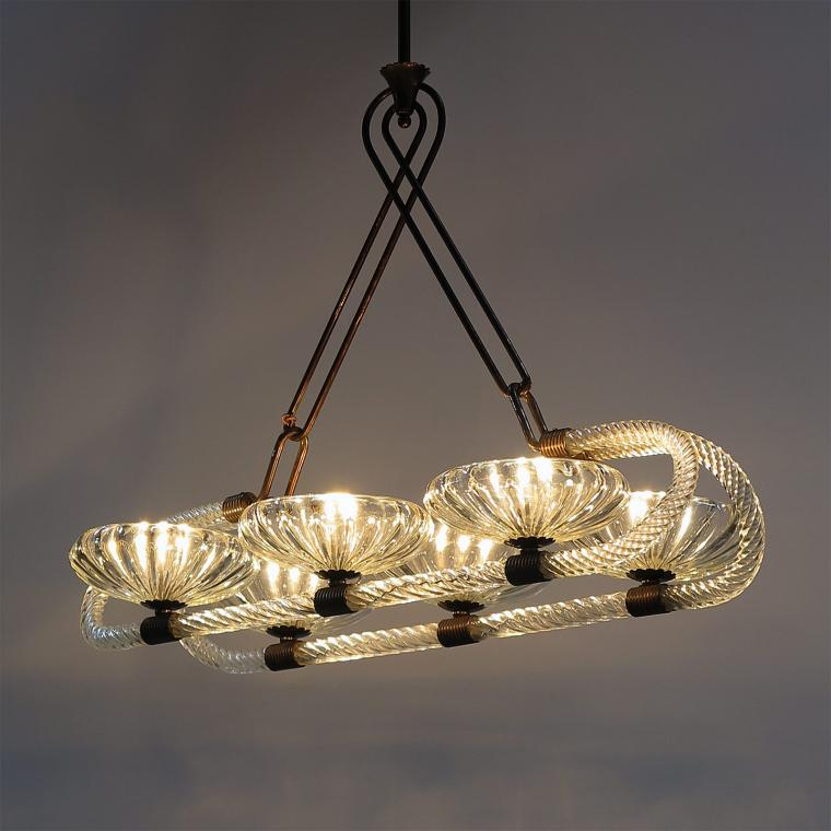 Six-Shade Chandelier by Barovier