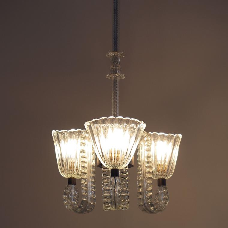 Three-Arm Chandelier by Barovier