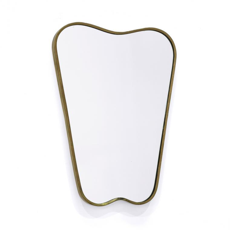 Italian Brass 'Heart' Mirror