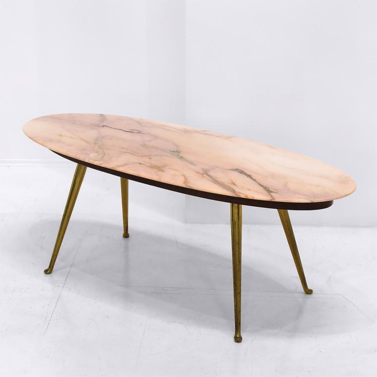 Elliptical Marble Coffee Table