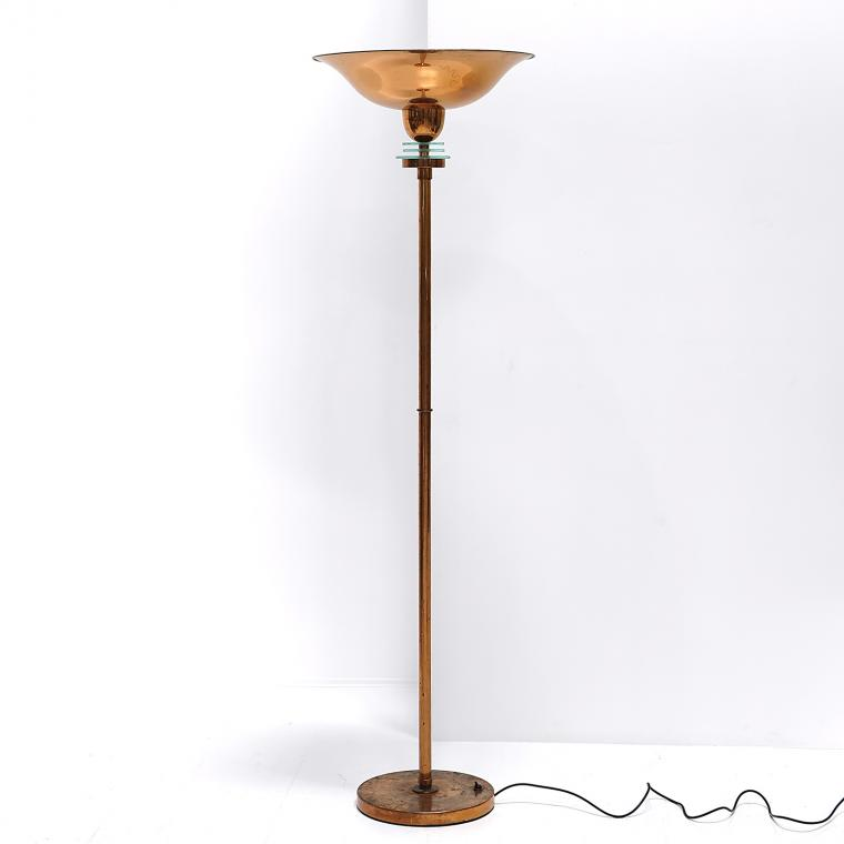 French Copper Torchiere