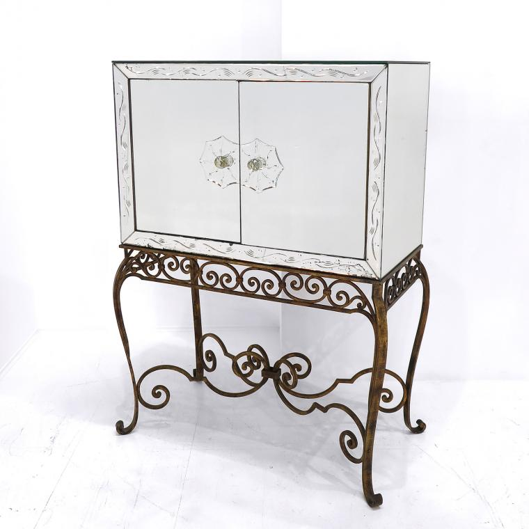 French Mirrored Cocktail Cabinet