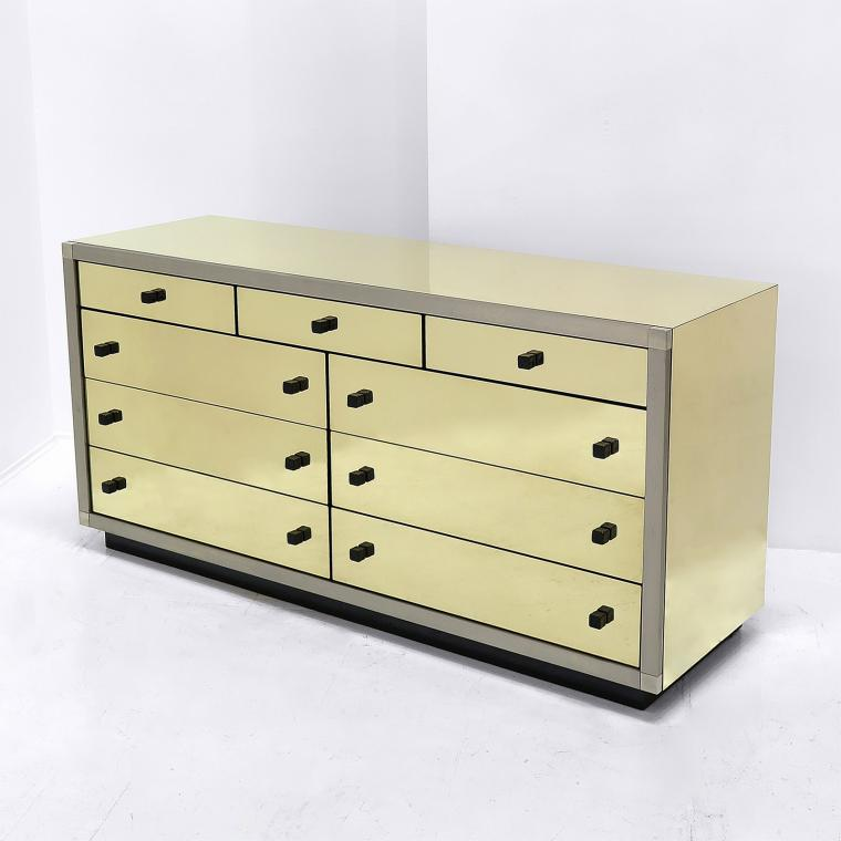 Italian Brass Chest of Drawers