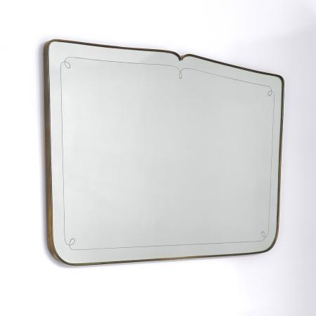 Italian Etched Brass Mirror