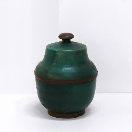Italian Ceramic Lidded Vessel