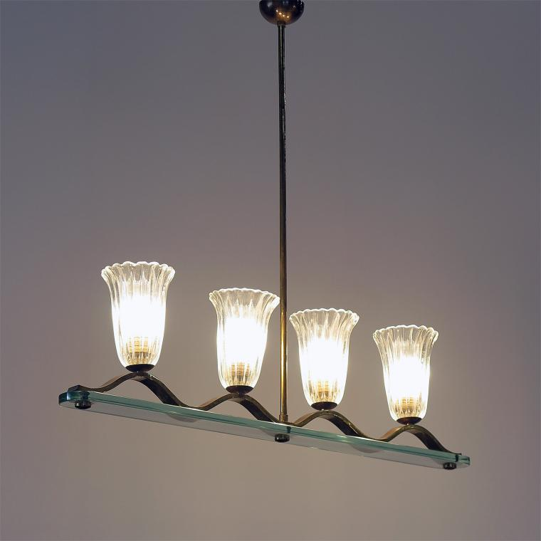 Murano Four-Shade Chandelier