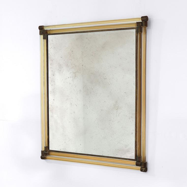 Glass 'Rod' Mirror by Seguso