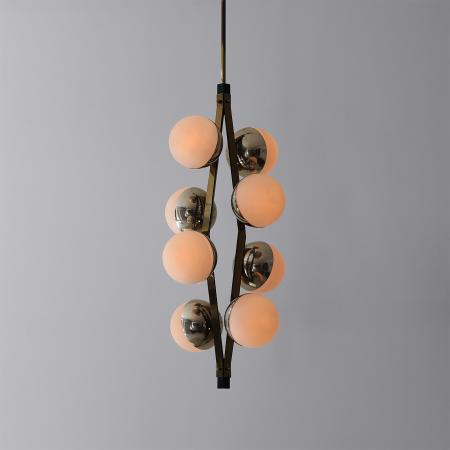 Eight-Shade Chandelier by Stilnovo