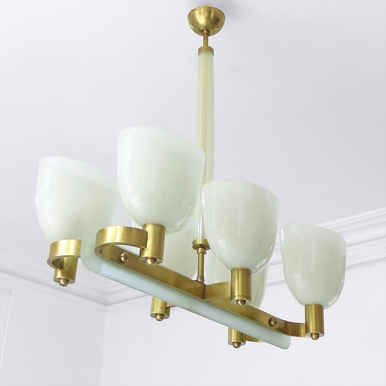 Pulegoso Chandelier by Venini