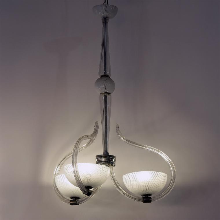 Reticello Chandelier by Venini